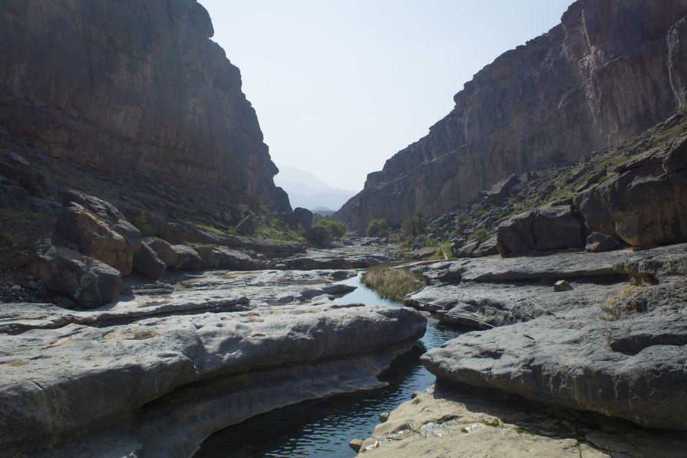 View Down the Wadi